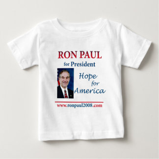 Ron Paul - esperanza de América 24 x 24 Playera De Bebé
