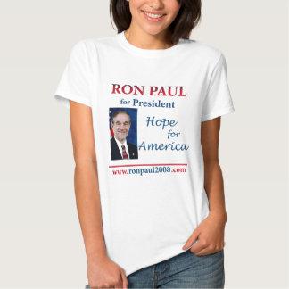Ron Paul - esperanza de América 24 x 24 Playeras