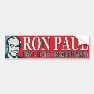 Ron Paul: Esperanza real - cambio real Pegatina Para Auto