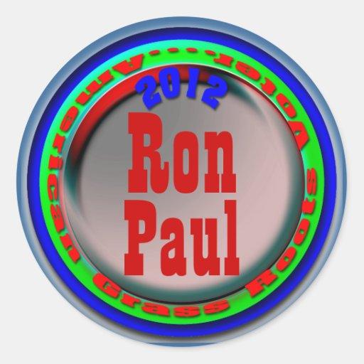 Ron Paul Etiqueta Redonda