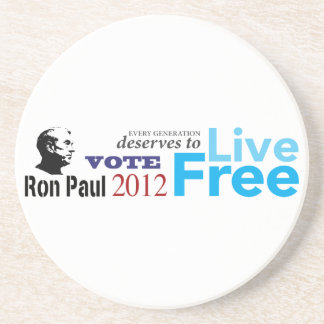 Ron Paul Every Generation Deserves To Live Free Drink Coaster