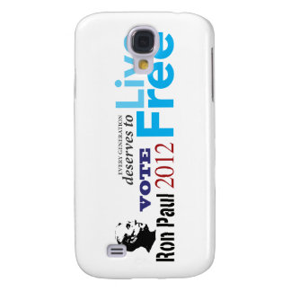 Ron Paul Every Generation Deserves To Live Free Galaxy S4 Cover