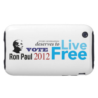 Ron Paul Every Generation Deserves To Live Free Tough iPhone 3 Cover