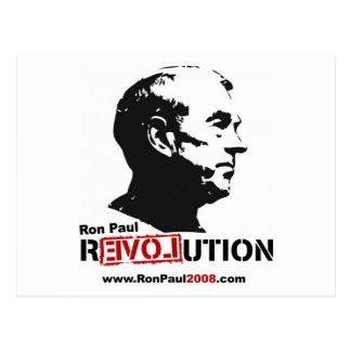 Ron Paul face Stencil - Revolution Postcard