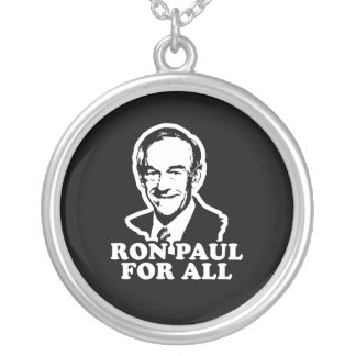 RON PAUL FOR ALL ROUND PENDANT NECKLACE