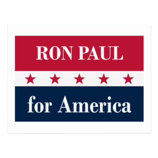 Ron Paul for America Postcard