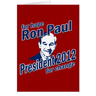 Ron Paul for Hope and Change Card