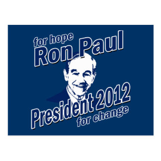 Ron Paul for Hope and Change Postcard