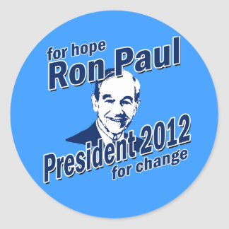 Ron Paul for Hope and Change Round Stickers