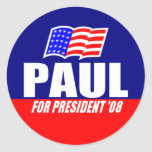 Ron Paul for President 08 Stickers