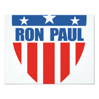 Ron Paul for President (12) 4.25x5.5 Paper Invitation Card