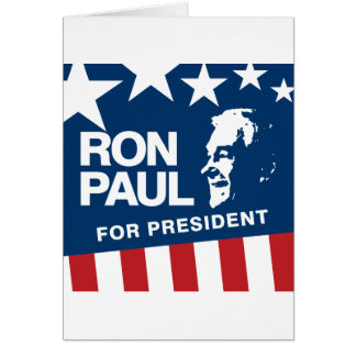 Ron Paul for president 2012 Card