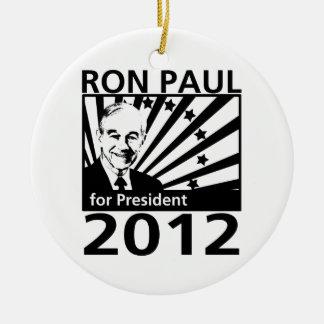 Ron Paul For President 2012 Ceramic Ornament