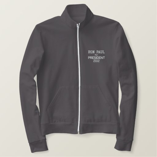 RON PAUL FOR PRESIDENT 2012 Jacket-Men's-Red Embroidered Jacket