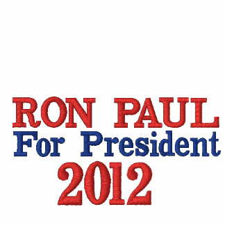 Ron Paul For President 2012 Ladies White Shirt