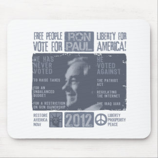 Ron Paul for president 2012 Mouse Pads