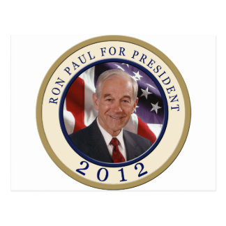 Ron Paul For President 2012 Postcard