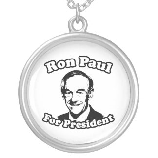 RON PAUL FOR PRESIDENT 2012 ROUND PENDANT NECKLACE