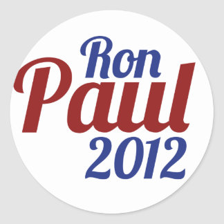 Ron Paul for President 2012 Classic Round Sticker