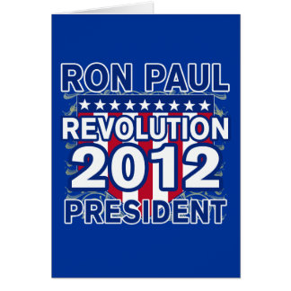 Ron Paul for President 2012 Tshirts Card