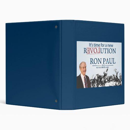 Ron Paul for President 3 Ring Binder