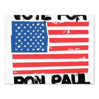 Ron Paul for President 4.25x5.5 Paper Invitation Card