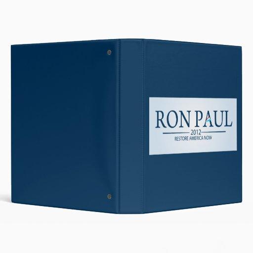 Ron Paul for President Binder