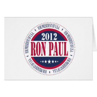Ron Paul for President Card