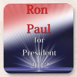 Ron Paul For President Dulled Explosion Drink Coaster