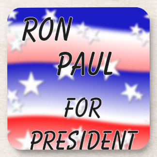 Ron Paul For President Fading Red White And Blue Beverage Coaster