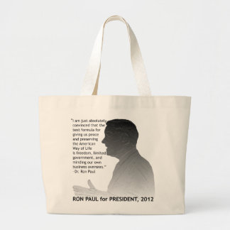 Ron Paul for President of the USA, 2012 Large Tote Bag