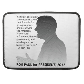 Ron Paul for President of the USA, 2012 MacBook Pro Sleeve