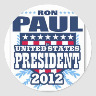 ron_paul_for_president_of_the_usa_2012_poster-p228 classic round sticker