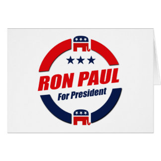 RON PAUL FOR PRESIDENT (Republican) Card