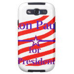 Ron Paul For President Strips With 3 Stars And Lin Samsung Galaxy S3 Case