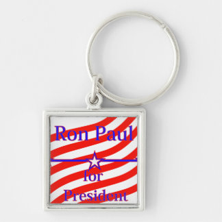 Ron Paul For President Strips With 3 Stars And Lin Keychain