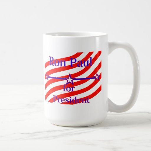Ron Paul For President Strips With 3 Stars And Lin Classic White Coffee Mug