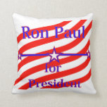 Ron Paul For President Strips With 3 Stars And Lin Pillows