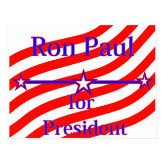 Ron Paul For President Strips With 3 Stars And Lin Postcard