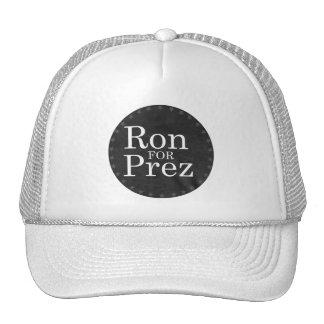RON PAUL FOR PREZ (white) Trucker Hat