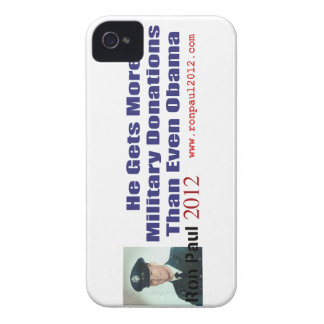 Ron Paul Gets More Military Donations Than Obama iPhone 4 Cover