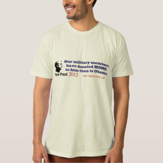 Ron Paul Gets More Military Donations Than Obama T-Shirt