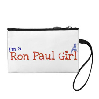 Ron Paul Girl Wris tclutch Coin Wallet