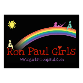 Ron Paul Girls Card VBusiness black Business Card Template