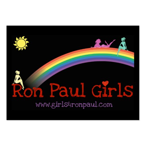 Ron Paul Girls Card VBusiness black Business Card Template