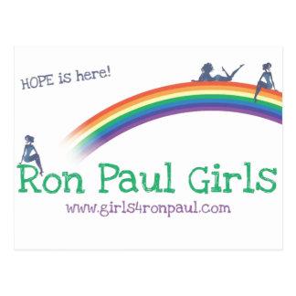 Ron Paul girls Hope Shirts Postcard