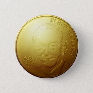 Ron Paul Gold Coin Button