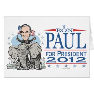 Ron Paul GOP Mascot 2012 Greeting Card