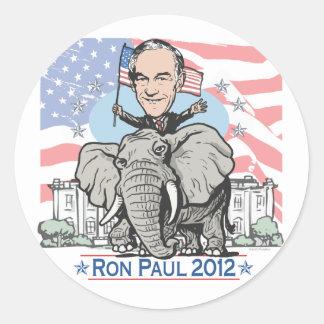 Ron Paul GOP Mascot 2012 Classic Round Sticker
