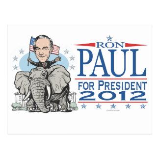 Ron Paul GOP Mascot 2012 Postcard